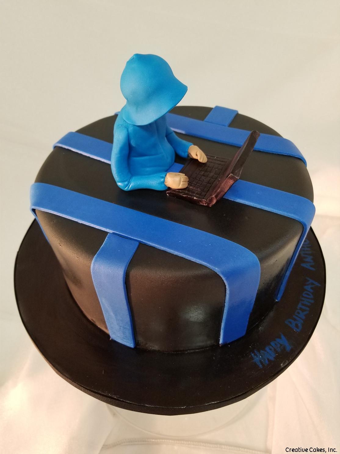 Sports 45 Computer Gamer Birthday Cake