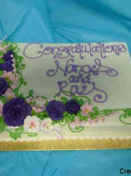Floral 21 Pink and Purple Garland Baby Shower Cake