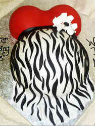 Neutral 46 Animal Print Baby Bump Baby Shower Cake