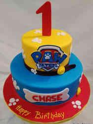 Boys 07 Primary Colors Paw Patrol First Birthday Cake