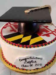 Grad School 26 Large Graduation Cap Graduation Cake