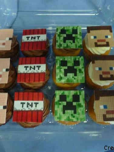 Kids 26 Minecraft Cupcakes