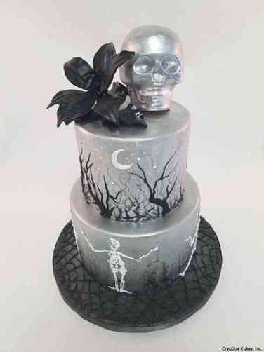 Autumn 19 Modern Silver Halloween Cake
