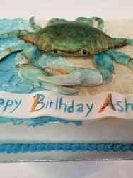 Animals 49 Blue Crab Birthday Cake