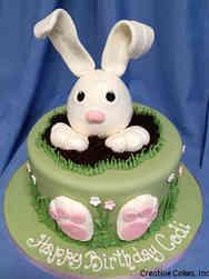 Animals 05 Bunny in a Hole Birthday Cake