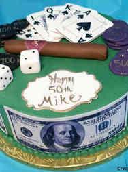 Sports 06 Poker Birthday Cake