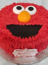 TV 11 Elmo Face Birthday Cake