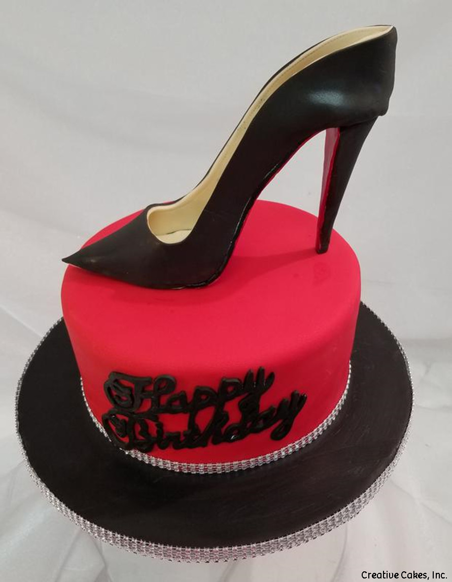 Fashion 41 Black Stiletto Birthday Cake