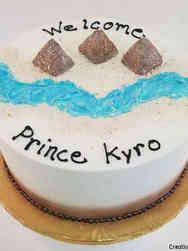 Boys 31 Egyptian Baby Shower Cake