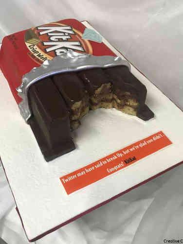 Other 11 Kit Kat Guy Engagement Celebration Cake