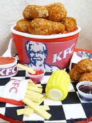 Food 11 Kentucky Fried Chicken Meal Birthday Cake
