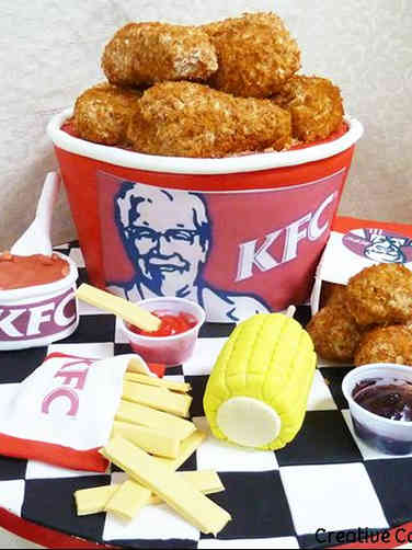 Food 11 Kentucky Fried Chicken Meal Birthday Cake