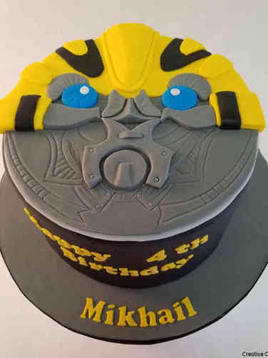Movies 38 Transformers Bumblebee Birthday Cake