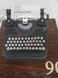 Hobbies 14 Typewriter Birthday Cake