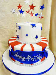 Summer 01 Patriotic Independence Day Cake