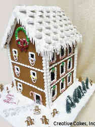 Winter 13 Tall Gingerbread Townhouse