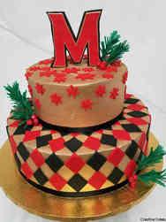Professional 05 University of Maryland Winter Celebration Cake