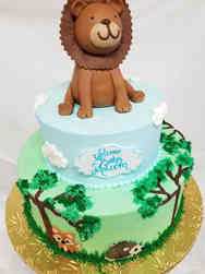 Neutral 19 King of the Jungle Baby Shower Cake