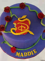 Princesses 05 Purple Descendants Birthday Cake