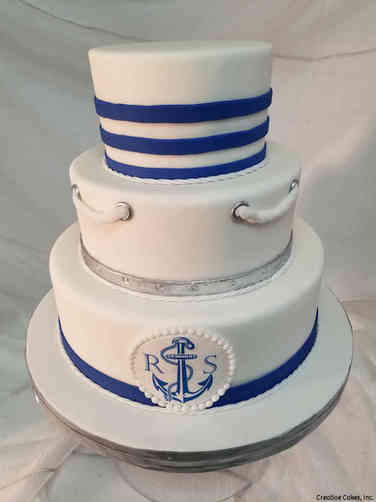 Unique 36 Nautical Themed Wedding Cake