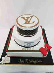 Fashion 84 Designer Boxes Birthday Cake