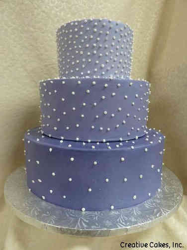 Colorful 08 Scattered Pearls Wedding Cake