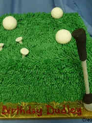 Sports 32 Grassy Golf Birthday Cake