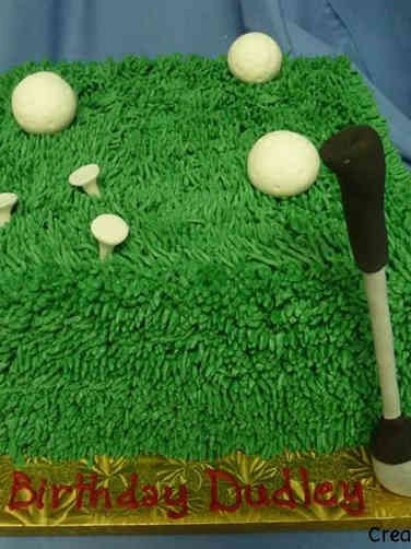 Sports 32 Grassy Golf Birthday Cake
