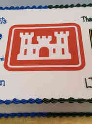 Military 08 Army Corps of Engineers Military Promotion Cake