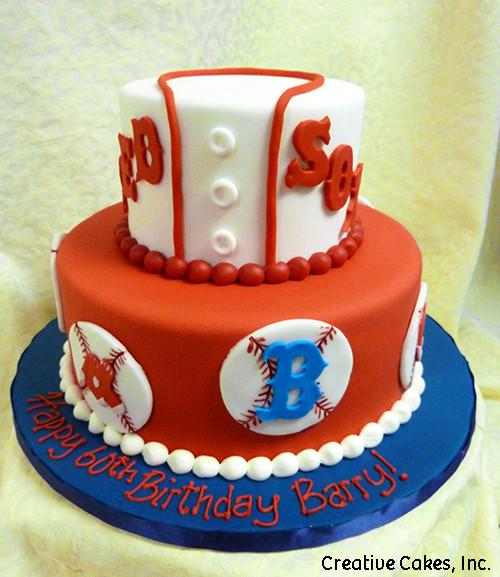 Sports 17 Boston Red Sox Birthday Cake