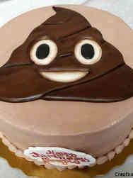Pop 04 Poop Emoji Birthday Cake