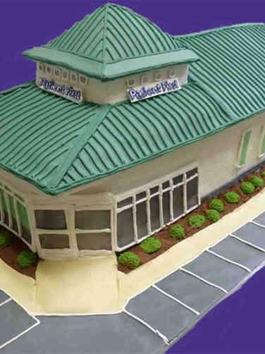 Corporate 20 3D Building Corporate Celebration Cake