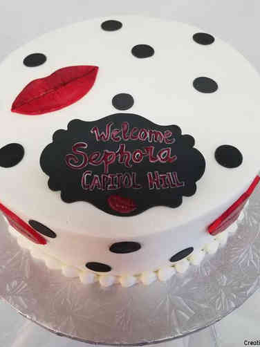 Corporate 09 Sephora Franchise Opening Day Celebration Cake