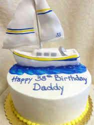 Hobbies 26 Sailboat Birthday Cake