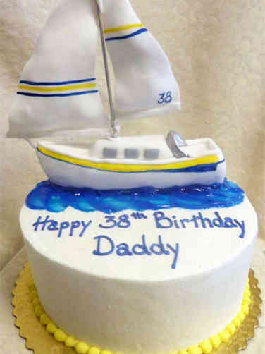 Hobbies 26 Sailboat Birthday Cake