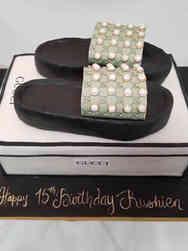 Unique 57 Gucci Slides Birthday Cake