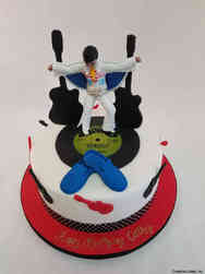 Pop 52 Elvis Blue Suede Shoes Birthday Cake