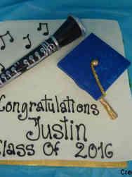 High School 24 3D Clarinet High School Graduation Cake