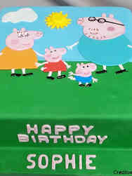 TV 03 Peppa Pig Birthday Cake