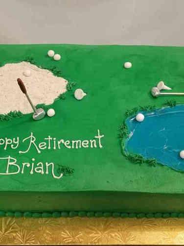 Professional 13 Golf Course Retirement Cake