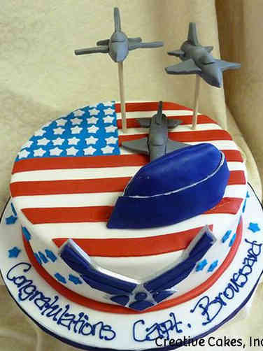 Military 15 Air Force Cover and Jets Military Promotion Cake