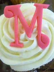 Adult 06 Monogram M Birthday Cupcakes