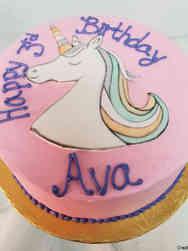 Animals 45 Mona the Unicorn Birthday Cake