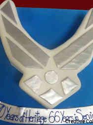 Military 12 Air Force Emblem Military Cake