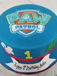 Neutral 11 Paw Patrol First Birthday Cake