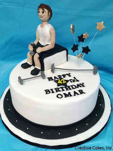 Sports 05 Weightlifter's Birthday Cake