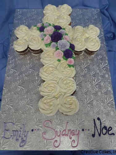 Other 22 First Communion Cupcake Cake
