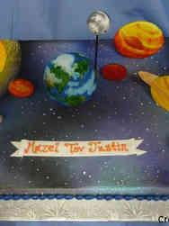 Unique 42 Flat Art Solar System Birthday Cake