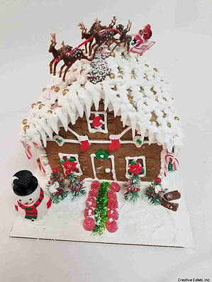 Decorated DIY Holiday Gingerbread Kit