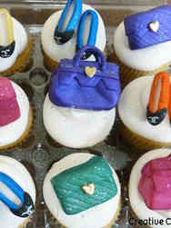 Adult 14 Shoes and Purses Birthday Cupcakes